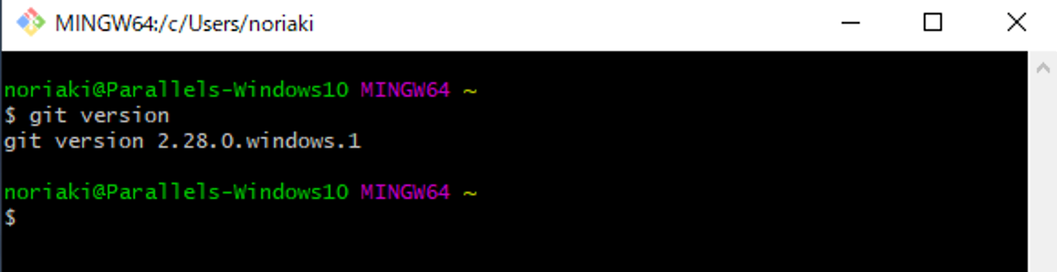 Gitのバージョン確認